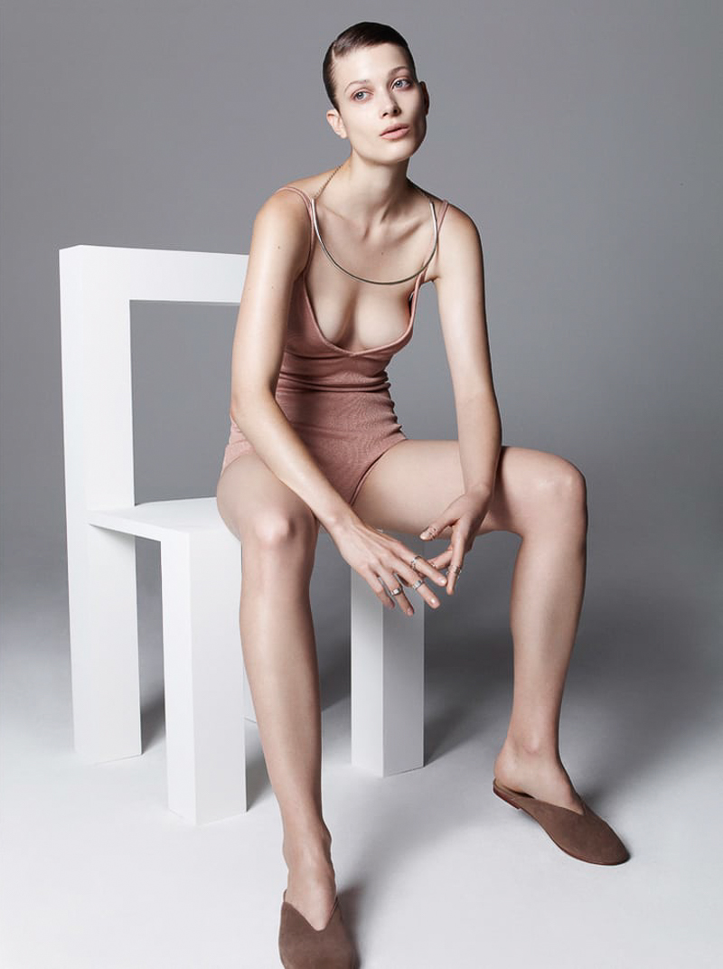 Vogue Ukraine January 2016 – Larissa Hofmann by Nagi Sakai