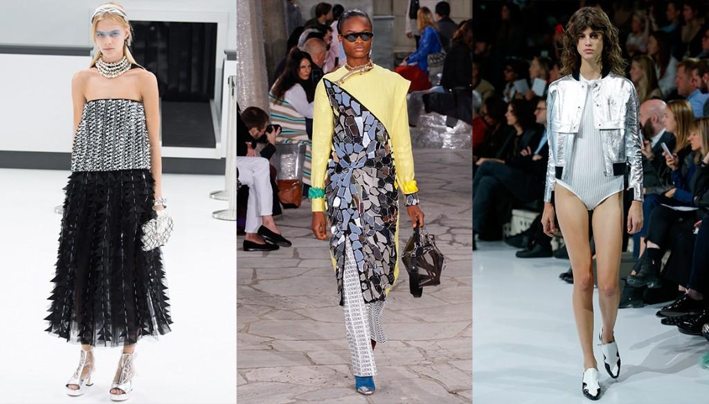 De gauche à droite : Chanel, Loewe et Courrèges
