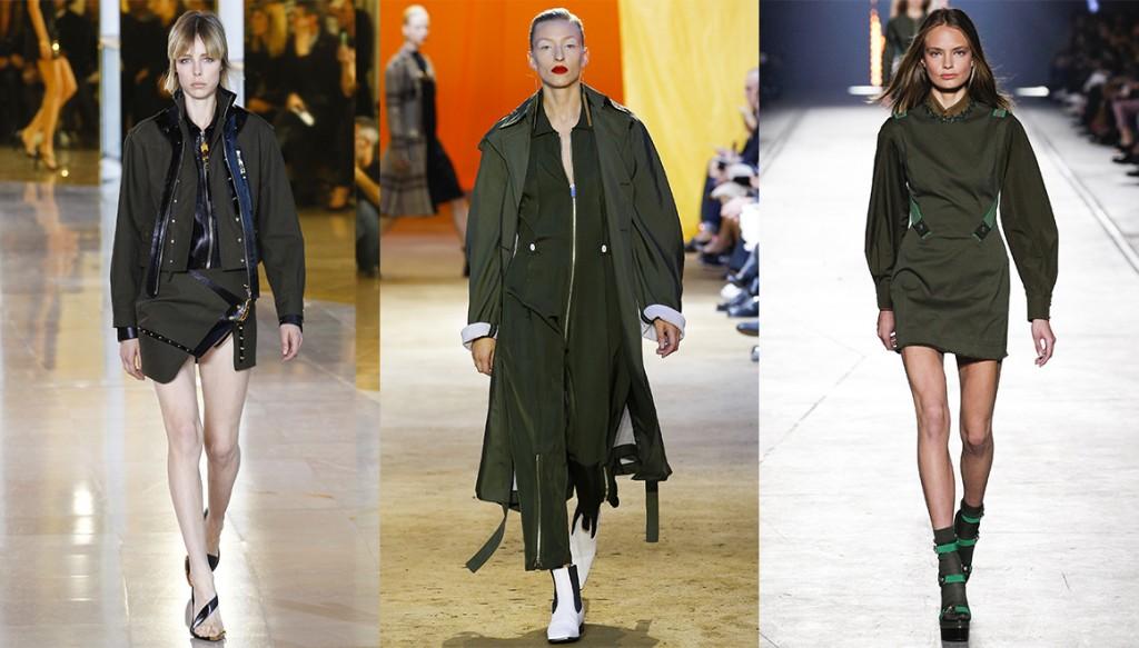 De gauche à droite : Anthony Vaccarello, Céline et Versace