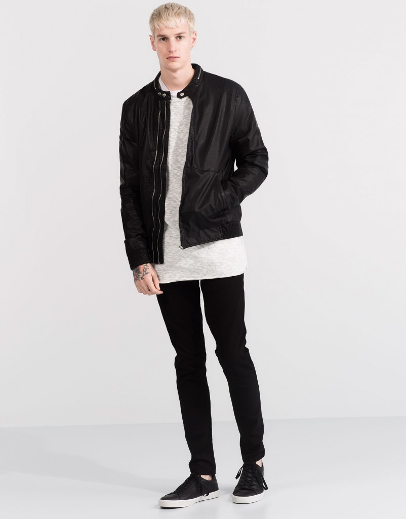 Pull and Bear Tunisie Collection 2016 - BLOUSON SIMILI CUIR RÉF. 5712502