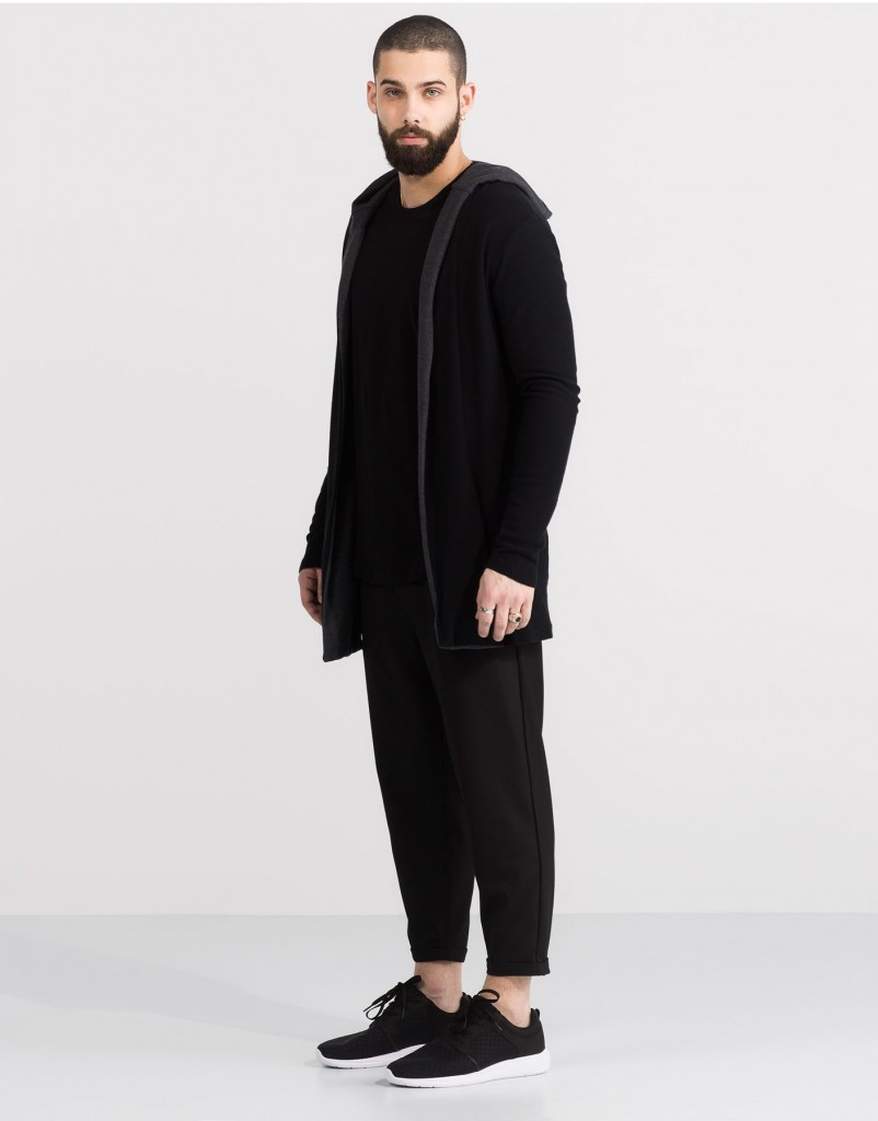 Pull and Bear Tunisie Collection 2016 - VESTE CAPUCHE CONTRASTE RÉF. 5580506