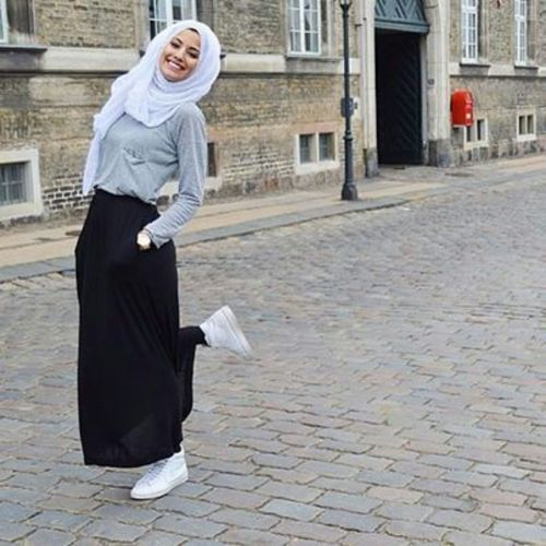 Hijab fashion 2016 s lection de looks tendances sp cial voil es octobre 2016 Fashion style girl hiver 2015