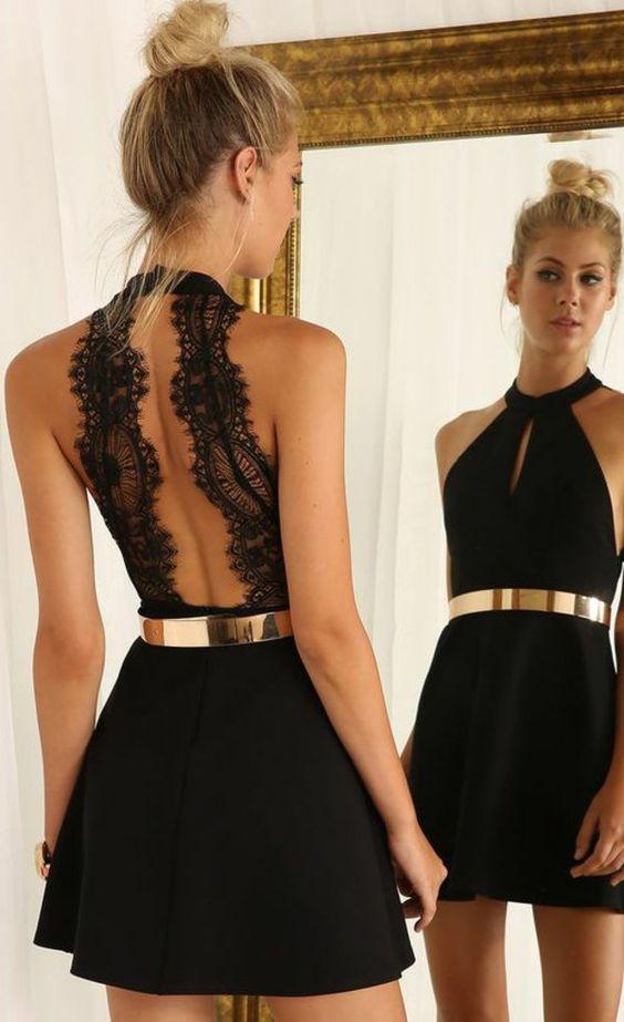 Modele de robe courte noire
