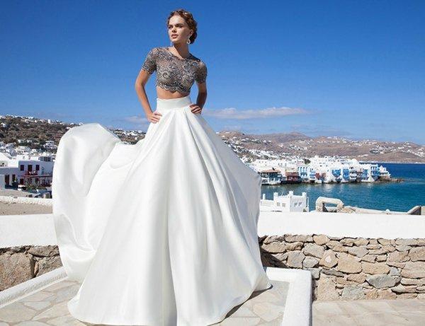 Robe de soirée longue 2016 - Une robe de soirée originale en deux pièces