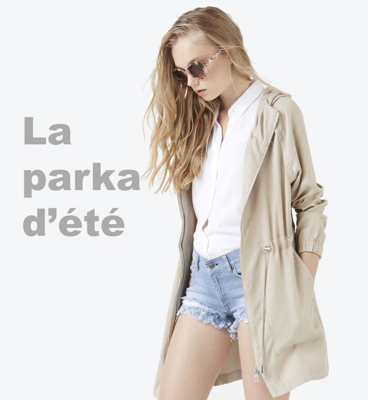 La parka d'été, tendance mode printemps été 2016