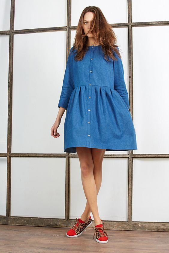 La robe denim, tendance mode printemps été 2016