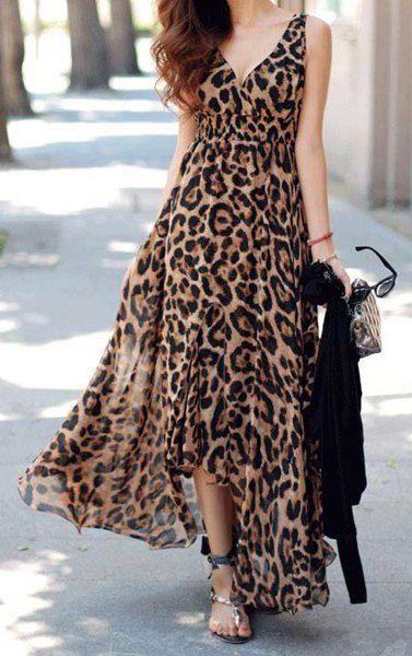 Robe imprimé léopard, tendance mode printemps été 2016