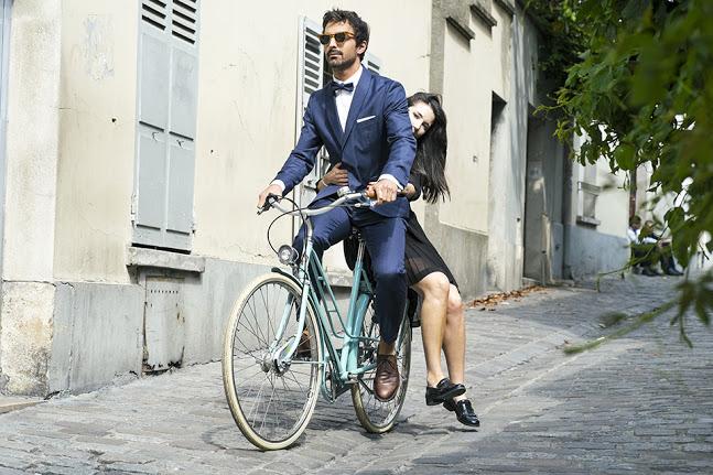 costume homme blue 2016 - Pour un mariage à vélo