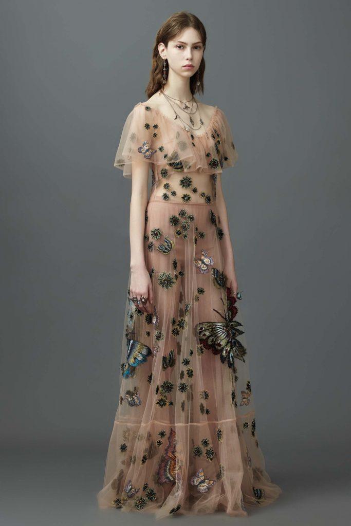 Robe de soirée longue 2017 , Modèle Valentino Resort 2017