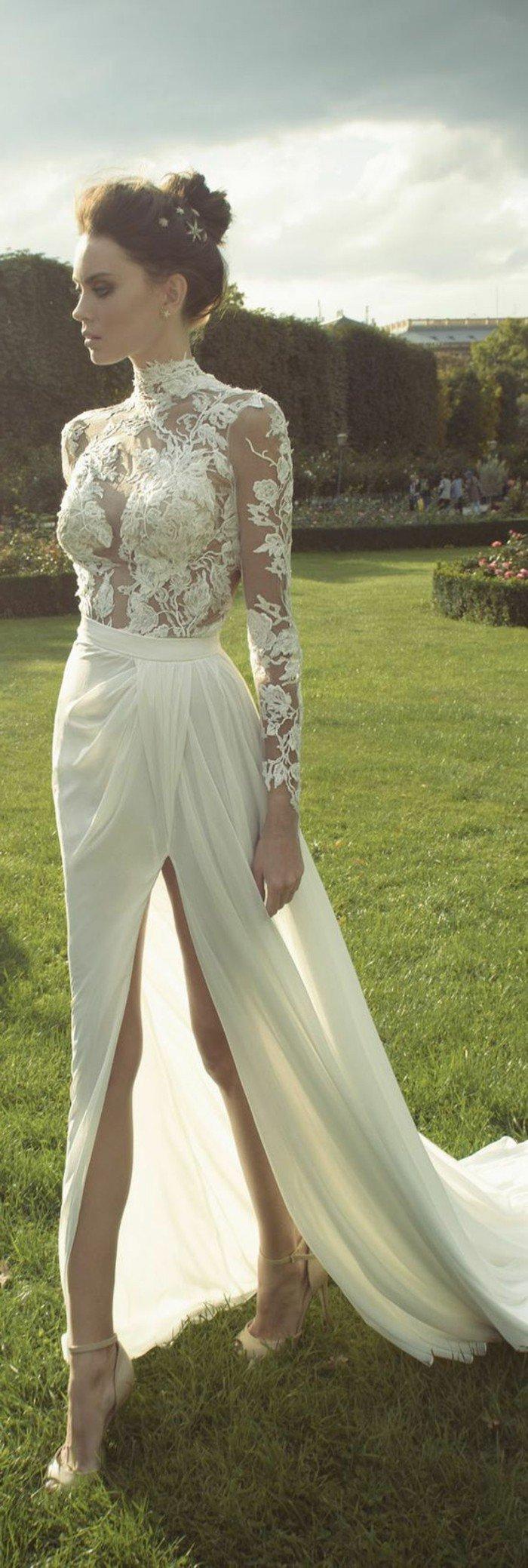 00-la-plus-jolie-robe-de-mariee-simple-avec-top-dentelle-et-jupe-longue-blanche