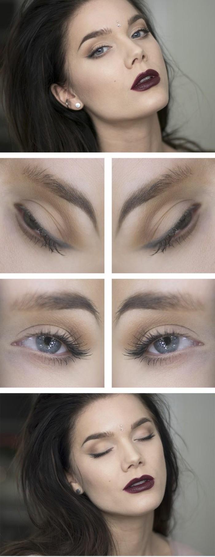 00-maquillage-avec-rouge-a-levres-foncé-rouge-yeux-bleus-tuto-comment-se-maquiller