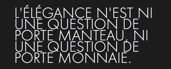 KARL LAGERFELD top citations - L'élégancen'est ni une question de porte manteau ni une question de porte monnaie
