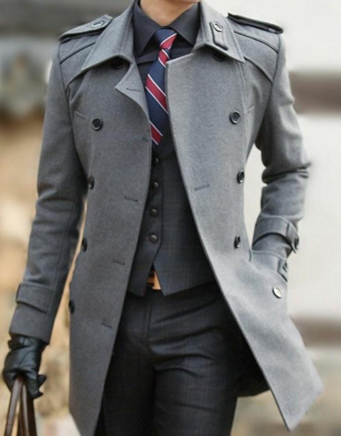 caban-homme-veste-matelassée-homme-mode-gris