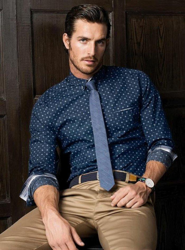 comment-porter-chemise-en-jeans-homme-cool-idee