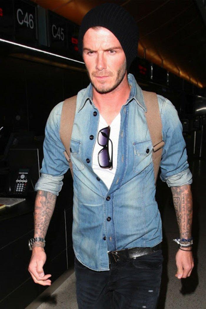 david-beckham-comment-porter-chemise-en-jeans-homme