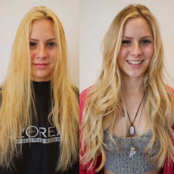 effet balayage – photos avant et après
