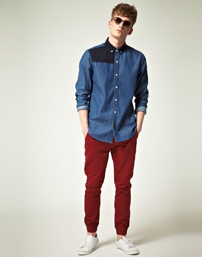 jolie-chemise-a-carreaux-chemise-jean-moderne-active-homme