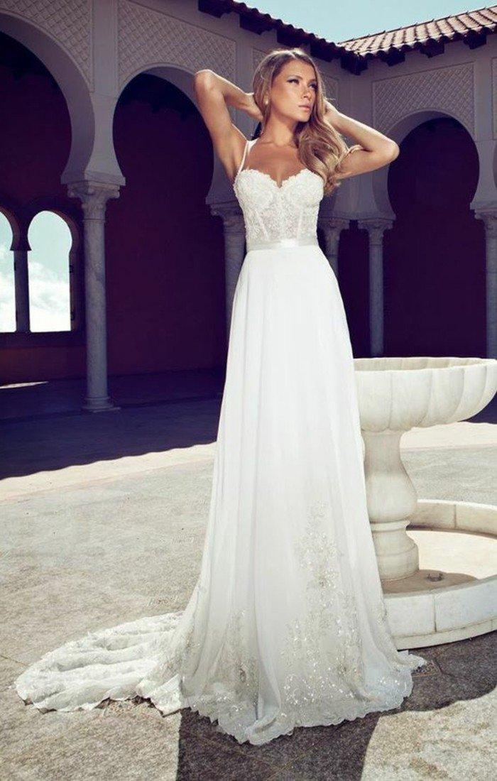 6a22409a5df3e Robe de mariée simple 2016 - Photos de robes