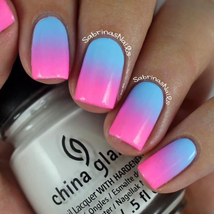 manucure-ombré-nail-art-ombré-bleu-et-rose