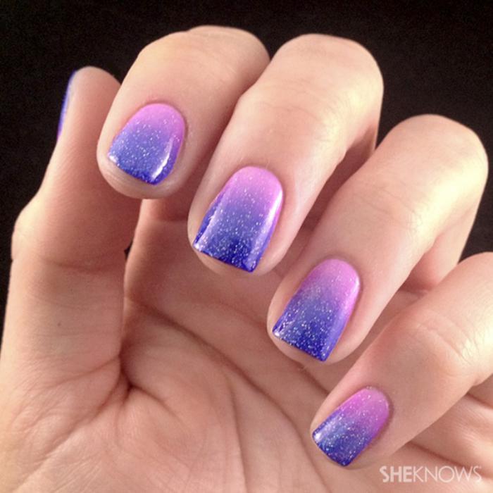 manucure-ombré-ombré-nail-art-rose-lilas