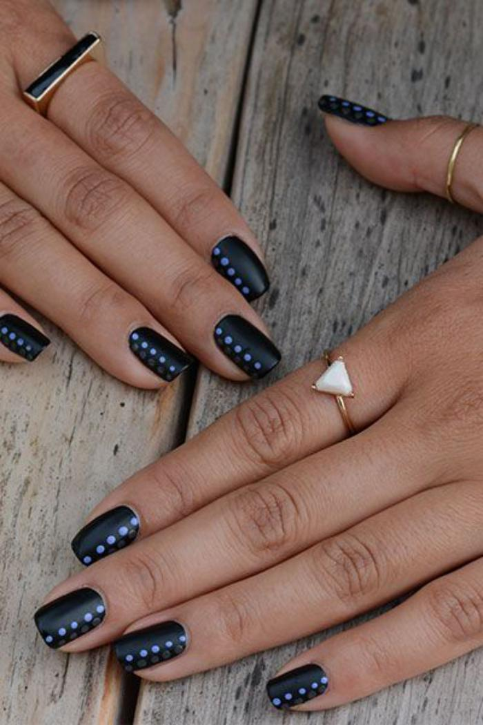 nail-art-facile-ongles-courts-idée-magnifique-nails-art-faclie