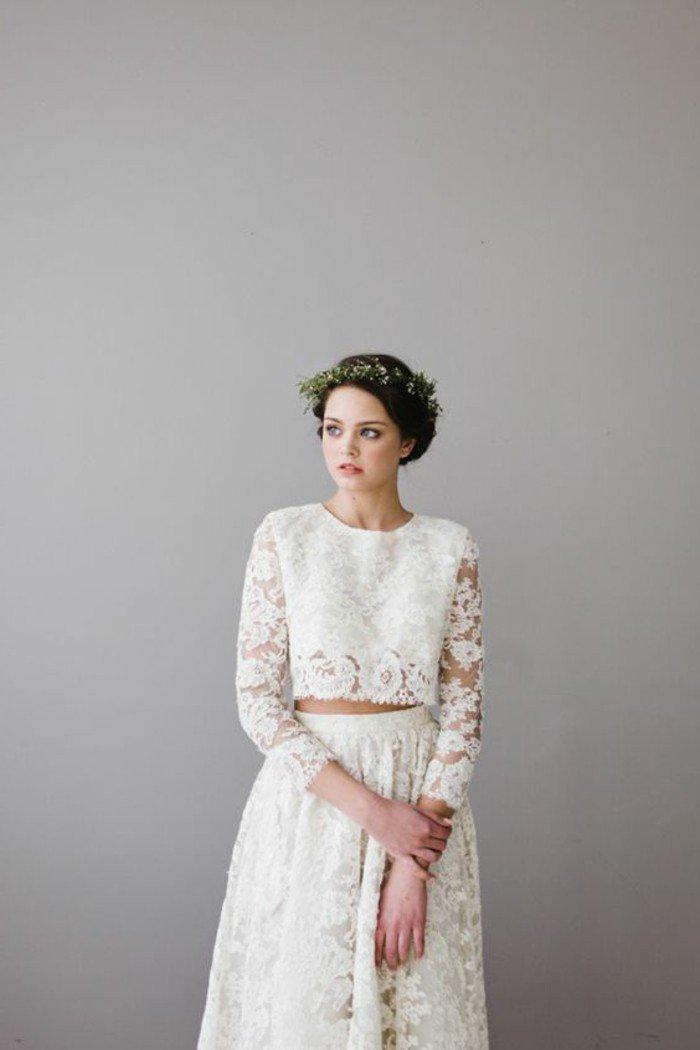 Tendance mode 60 des plus belles robes de mariage civil en photos - Robe pour mariage hiver ...