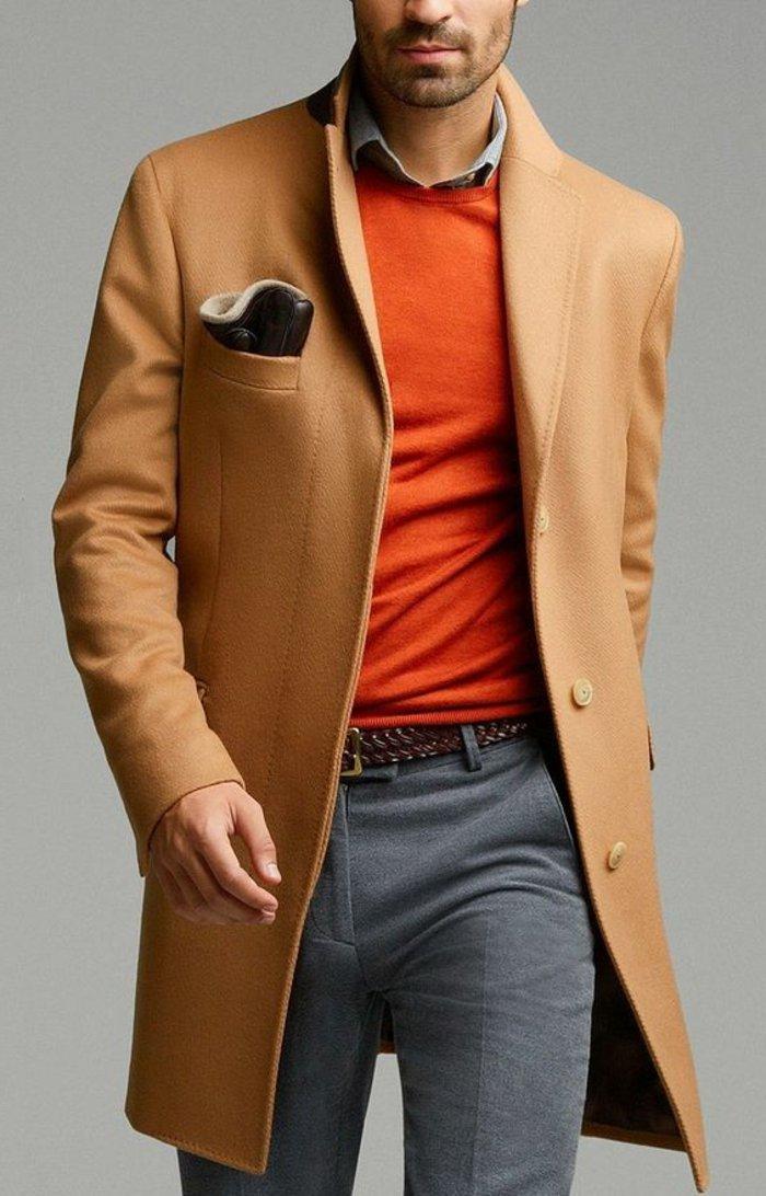 Manteau beige camel zara