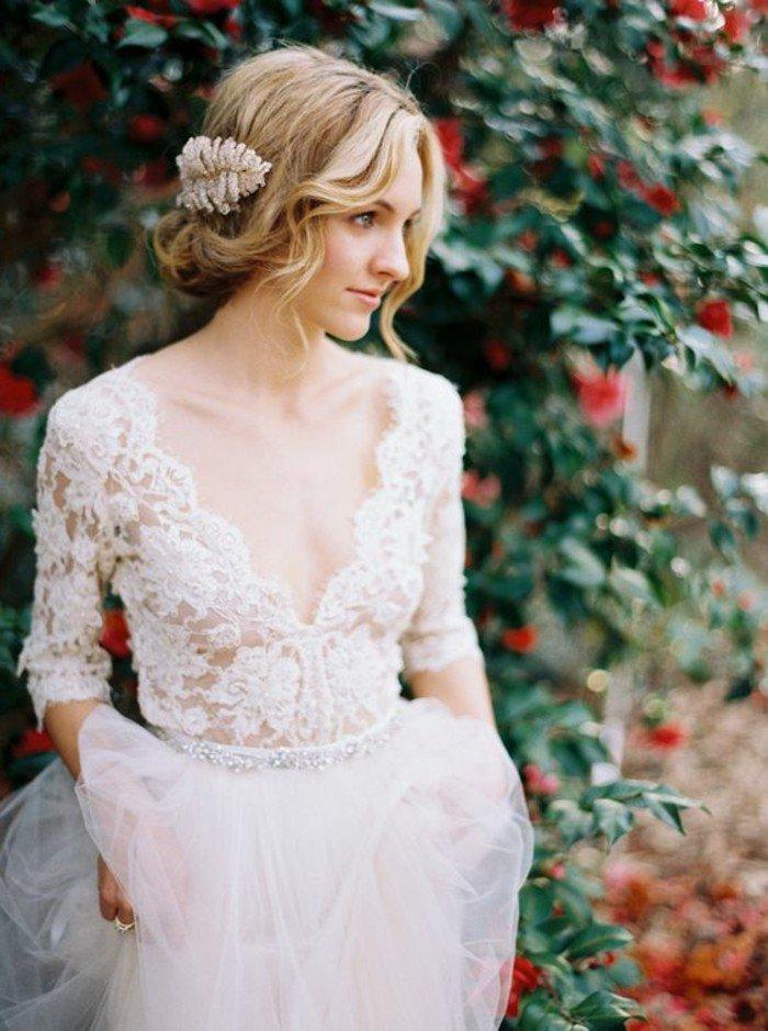 f1787217655fa Tendance Mode  60 des plus belles robes de mariage civil en photos