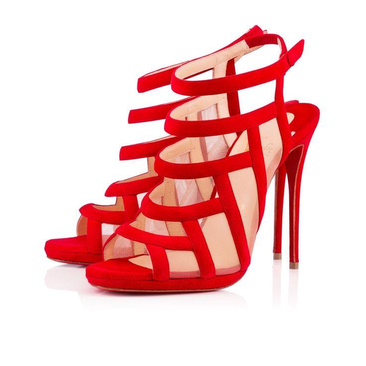 Chaussures de soirée femme à talons - Nicole K Suede - Christian Louboutin - tendance 2016-2017