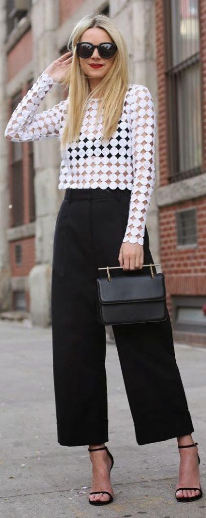 Jupe culotte noir tendance 2016