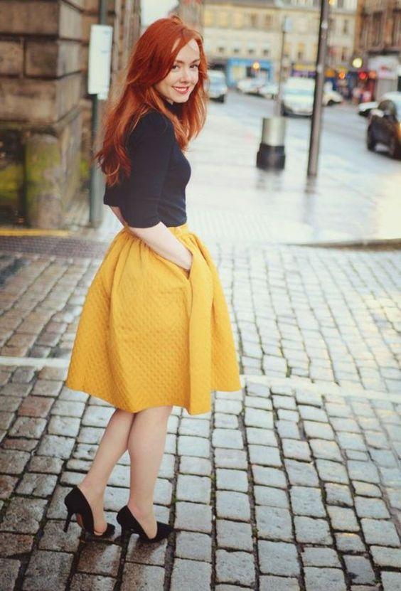 La jupe évasée - un style éternel!