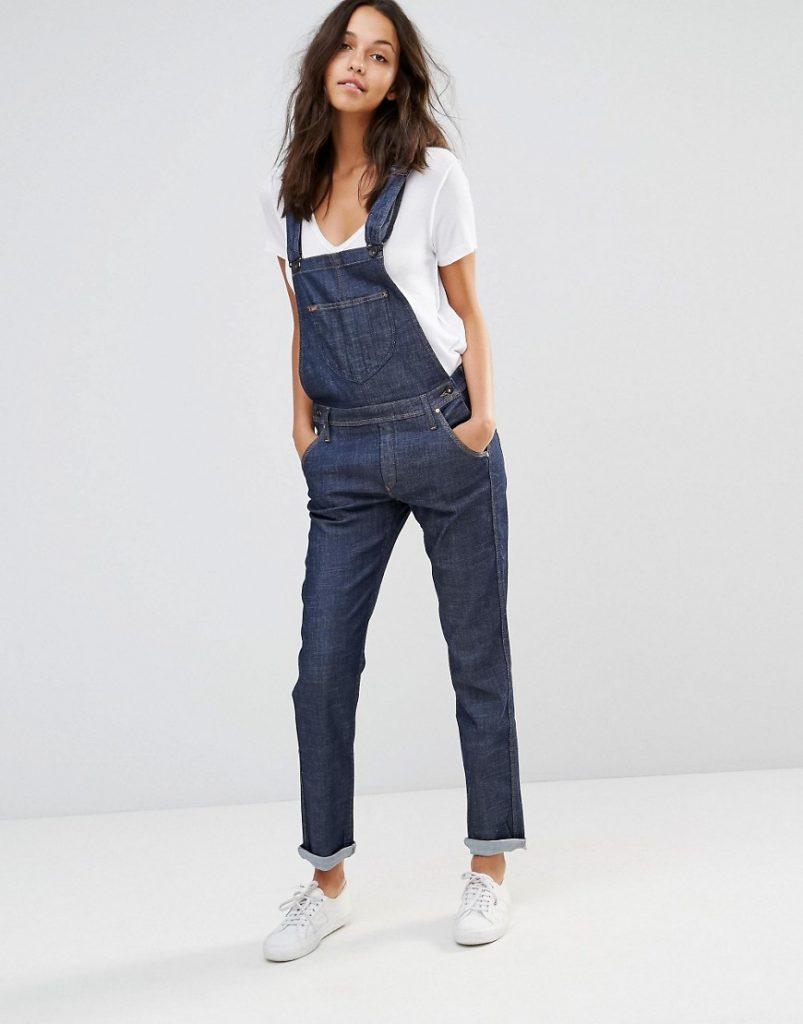 Lee - Salopette droite en jean