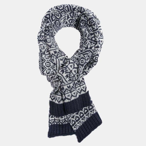 Tendance écharpe pour homme automne-hiver - L'écharpe jacquard