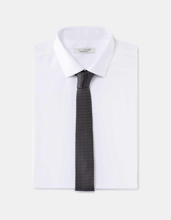 cravate-pour-homme-points-blanche-chemise