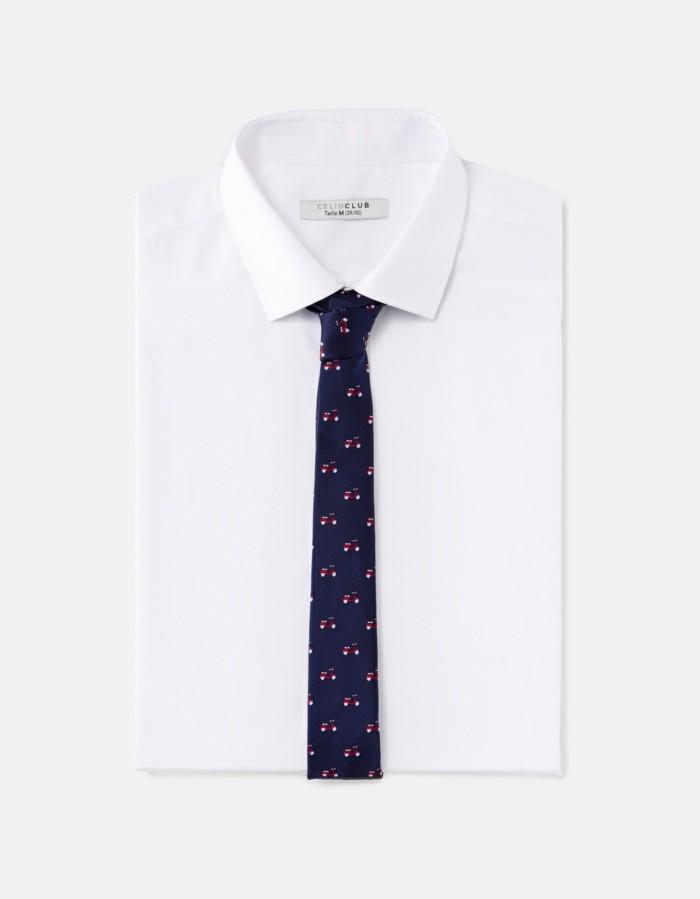 la-cravate-pour-homme-bicyclettes-blanche-chemise