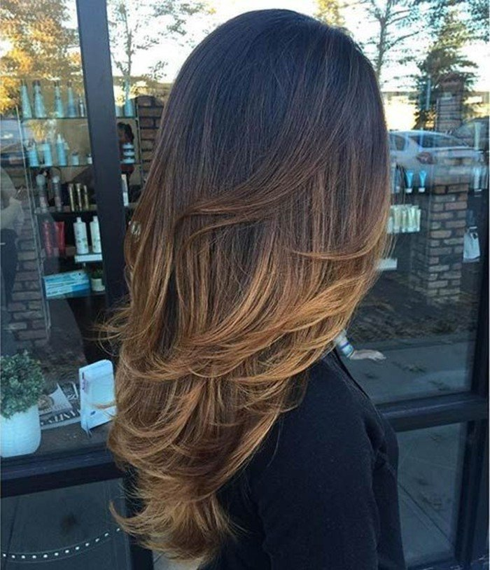 balayage caramel sur cheveux chatain. Black Bedroom Furniture Sets. Home Design Ideas