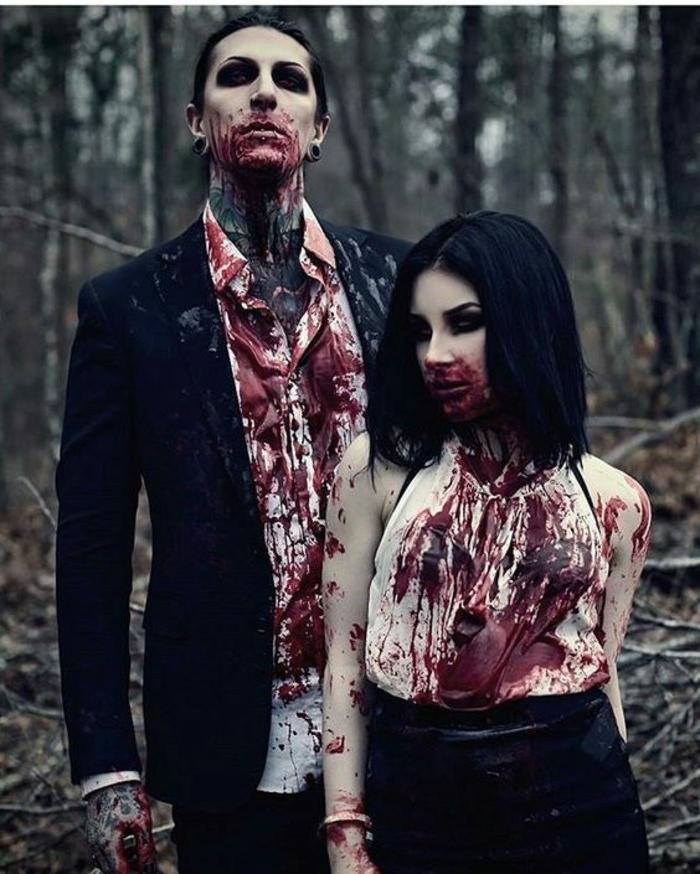 deguisement-halloween-facile-a-realiser-deguisement-duo-vampires-homme-femme