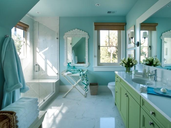 Peinture salle de bain 2016 /2017 – 77 photos qui vont vous faire ...