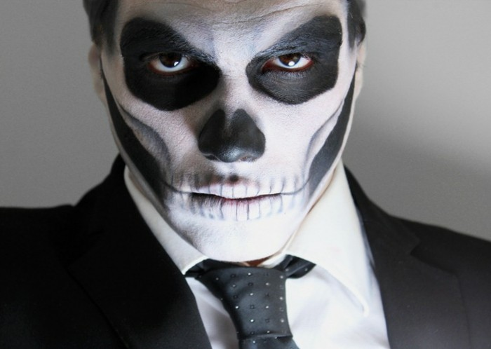 D guisement halloween 80 id es pour un look facile de derni re minute - Maquillage halloween facile homme ...