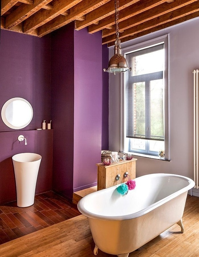 peinture salle de bain 2016 2017 77 photos qui vont vous faire craquer. Black Bedroom Furniture Sets. Home Design Ideas