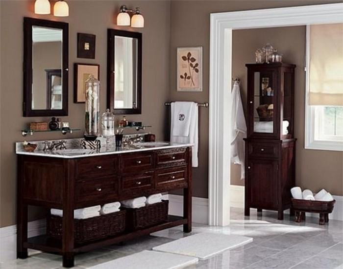 couleur-salle-de-bain-taupe-meubles-salle-de-bain-en-bois-style-élégant
