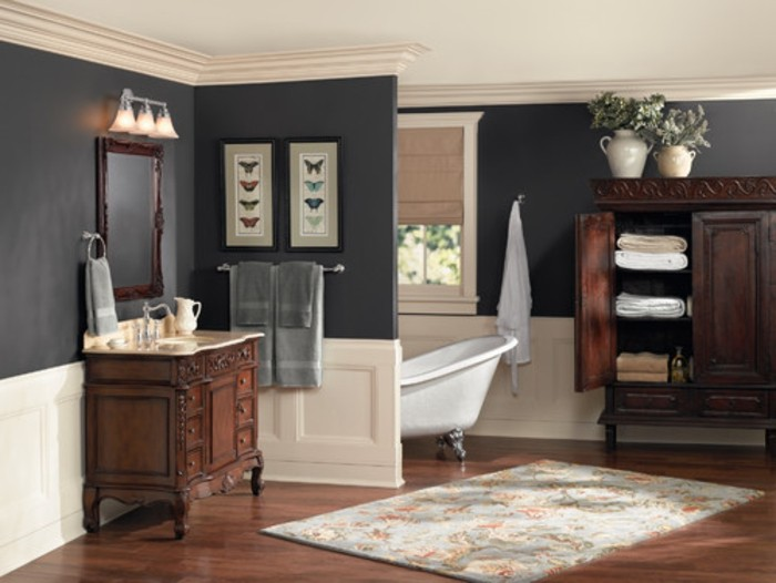 peinture salle de bain 2016 2017 77 photos qui vont. Black Bedroom Furniture Sets. Home Design Ideas