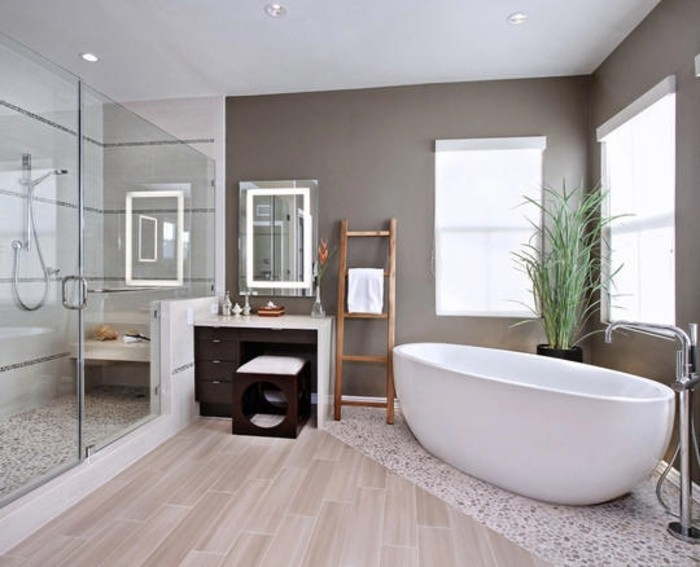 Stunning Salle De Bain Taupe Et Chocolat Gallery - Amazing House
