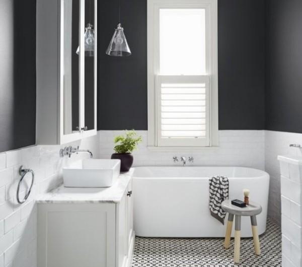 8idée-géniale-salle-de-bain-couleur-taupe-baignoire-à-poser-vasque-à-poser-idée-carrelage-très-esthétique