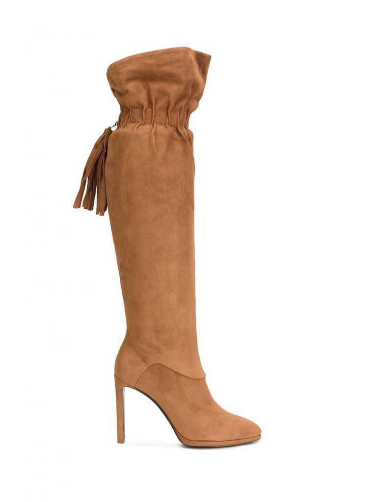 ROBERTO CAVALLI - elasticated fringed detailing boots