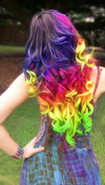 Cheveux arc-en-ciel - Style 2 tendance coiffure 2017