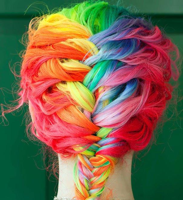 Les cheveux arcs-en-ciel - Style 10 Tendance 2016-2017