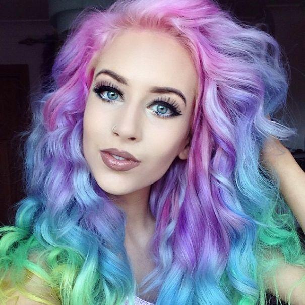 Cheveux arc-en-ciel - Style 3 tendance coiffure 2017