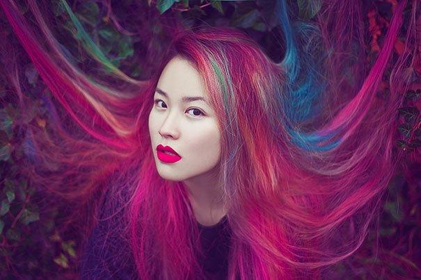 Les cheveux arcs-en-ciel - Style 9 Tendance 2016-2017