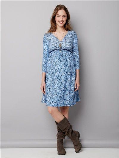 Robe de grossesse courte tendance 2017 imprimée MARINE